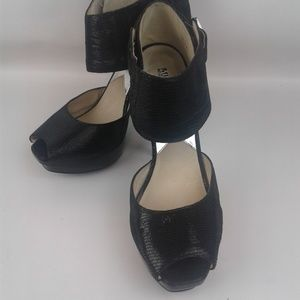 "Michael Kors 5.25"" Black Stilleto Platofrm Heels"